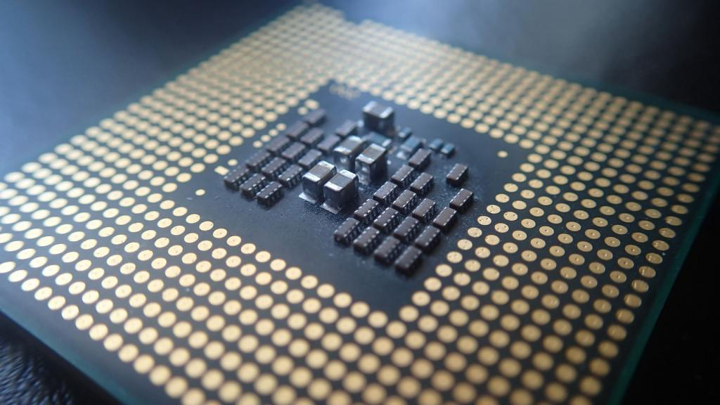 processor flat pins center chips