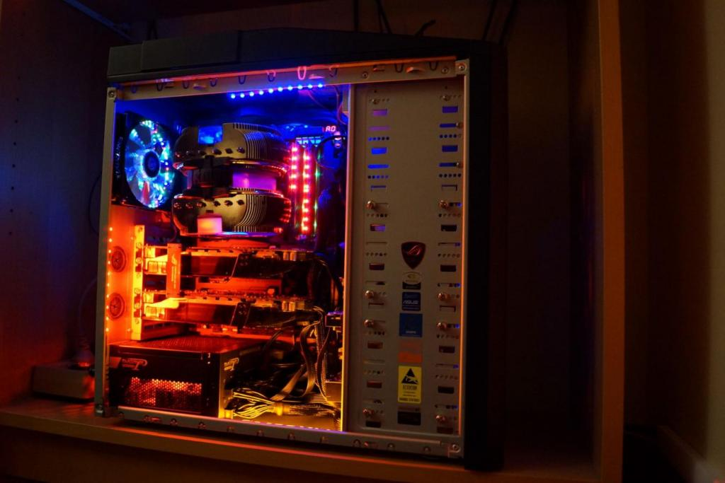 computer case fan chassis RGB LED