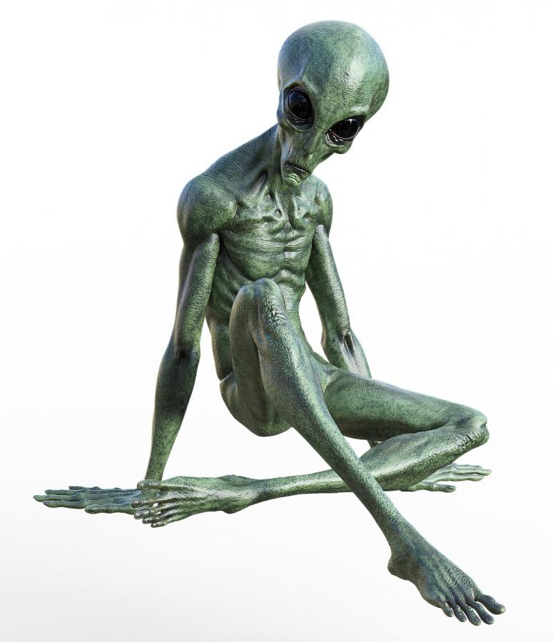 alien sculpture humanoid realism